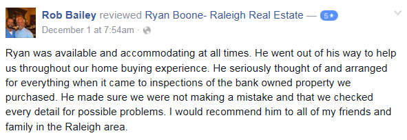 Review Ryan Boone Real Estate Raleigh