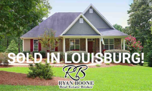 Louisburg, NC lake home sold by Ryan Boone Real Estate