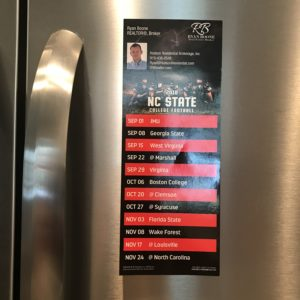 Ryan Boone NC State Football Scheduled Magnet